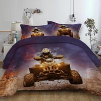 juegos de cama queen para niños al por mayor-Juego de cama de regalo de cumpleaños para niños de deporte extremo para edredón, funda de edredón, funda de edredón, ropa de cama nueva cama de 3 piezas