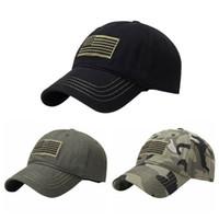 gorras tácticas al por mayor-Gorra de béisbol desmontable del operador táctico militar del sombrero del remiendo de la bandera americana de los EEUU