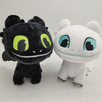 Wholesale dragon animals for sale - 16cm inch How to Train Your Dragon Plush Toy Toothless Light Fury Soft Dragon Stuffed Animals Doll New Movie Colors C6388