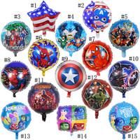 inflável, balão, fornecer venda por atacado-Vingadores crianças balões brinquedos marvel inflável festa de aniversário ballons decorações suprimentos bolha de hélio balão de folha de 18 polegada