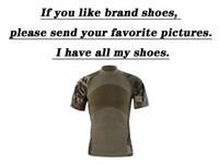 taktisches t-shirt großhandel-Kompression Kurzarm Armee Camo Tactical Combat T-shirt Männer Unterwäsche Outdoor Schnell Trocknend T-shirt Camping Trekking Wandern Tops