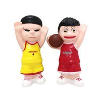Wholesale kids toy basketballs resale online - Squishy basketball boy slow rebound simulation Pu cartoon hero decorated decompression toys