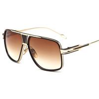 fliegerbrillen für frauen großhandel-Unisex's Lightweight Oversized Aviator Sonnenbrille UV400 Schutz Herren und Damen Sonnenbrille Fashion Brand Eyewear mit Box