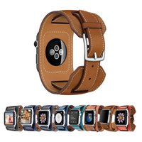 Wholesale extra watch online - Luxury Extra Long Genuine Leather Band for iWatch Strap Double Tour Bracelet widen Watchband for Apple Watch mm mm