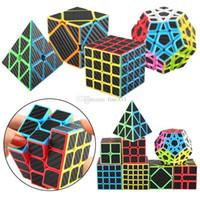 çocuklar için serin çıkartmalar toptan satış-Rubix Küp Hız Küp 3x3x3 Pürüzsüz Sihirli Karbon Fiber Sticker Rubix Hız Küp Serin Çocuk Sihirli Küpler Oyuncaklar Çocuk Hediyeler