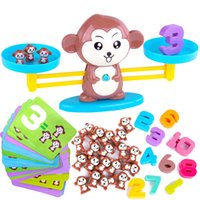 Wholesale educational monkey toys resale online - Monkey Balance Math Game for Girls Boys Fun Educational Children Toys Gift Kids Toy STEM Learning