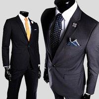 tuxedos für männer plus männer großhandel-Fashion Business Formal Herren Blazer Bräutigam Smoking Best Man Casual Slim Fit Mantel Jacken Schwarz mit Knopf Plus Size M-3XL
