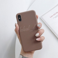 Wholesale jelly color case online – custom Jelly Candy Color Soft TPU Silicone Phone Cases For iphone XR X XS Max s Plus Matte Protective Back Cover many color