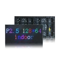 panel de texto al por mayor-P2.5 SMD2121 RGB módulo de pantalla LED a todo color, panel LED interior, 1/32 scan 320 * 160mm, texto, imágenes, video