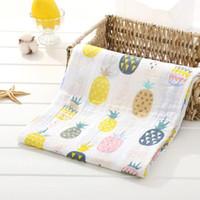 folhas de cama para crianças venda por atacado-2 Camadas Bebê Swaddle Envoltório Cobertor Recém-nascido de Algodão Musselina Swaddle para Crianças Infantis Toalha De Banho Folha de Cama Do Bebê Jogar Mat