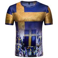 robe de russie achat en gros de-Vêtements pour hommes Les fans suédois de Viking arborent une robe de ville à manches courtes et un t-shirt décontracté T-shirt femme 2018 en Russie