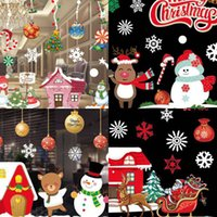Wholesale black decoration stickers resale online - Color Christmas Sticker X37X2 Sheet Roll Round Paper Tube Packaging No Rubber Static Window Sticker Christmas Decoration