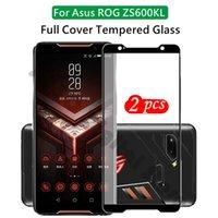 explosionsgeschützte displayschutzfolien großhandel-Full cover Screen Protector gehärtetes Glas für Asus ROG Phone 2 ii 9H am Telefon Explosionsgeschützte Schutzglasfolie für ZS600KL