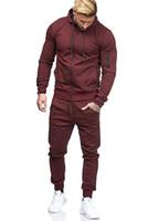 Wholesale men jogging resale online - Mens Designer Tracksuits Survetement Solid Color Track Suit Jogging Suits Men Pantalon de survêtement Multiple Choice Tracksuits