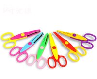 Wholesale love scissors resale online - 5 Inch Craft Scissors Kids Paper Edger for Scrapbook School Mix Color Kids Hot Love Scissor SN2733