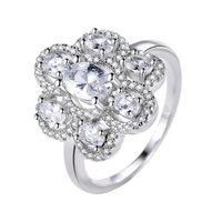 ожерелья высокого класса кристалла оптовых-Бренд дизайнер роскошные кольца с бриллиантами высокого класса импортированных бриллиантовое кольцо стерлингового серебра 925 пробы инкрустированные кристалл кольцо натуральное жемчужное ожерелье