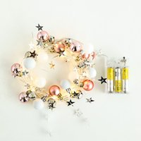 Wholesale wishing candles resale online - Wishing Tree Drifting Bottle Dry Gold Christmas Ball Bell Pink White Christmas Ball Bell Gold Bow Bells LED String