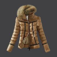 chaqueta corta acolchada mujer al por mayor-Nuevo 2017 Winter Fashion Xxmnclers Pyrenex Ladies Down Short White Goose Down Padded Jacket Brand Women Slim Down Jacket