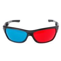 3d gözlük toptan satış-Evrensel 3D Gözlük Beyaz Çerçeve Kırmızı Mavi Anaglyph 3D Gözlük Film Oyunu DVD Video TV Için