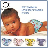 Wholesale toddlers diapers waterproof baby pants resale online - Newborn Leakproof Swimming Trunks Side Button Baby Swim Diapers Swimming Pool Waterproof Toddler Infant Baby Reusable Swim Pants