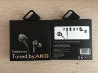 caja de micrófono para auriculares iphone al por mayor-la caja más nueva S8 Auriculares 3.5mm en la oreja Auriculares Auriculares Auriculares Auriculares Con control remoto de volumen de micrófono Para SAM S8 con paquete al por menor