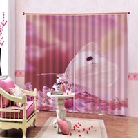 Wholesale butterfly window decor resale online - Butterfly Print Window Curtains for living room bedroom Kitchen Room flower Drapes Decor