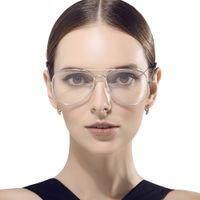 ingrosso occhiali sottili-Large Oval Metal Ful-Rim Pilot Montatura per occhiali vetro piano Montatura per occhiali con tempio sottile per uomo e donna 3026