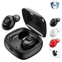 ipad kulaklıklar bluetooth toptan satış-TWS Kulaklıklar Bluetooth 5.0 Kablosuz Kulaklık Spor Kulaklık 3D Stereo Ses Kulaklık ile Taşınabilir Mic ve iphone iphone için Şarj kutusu