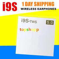 görünmez mobil toptan satış-I9S TWS kablosuz kulaklık Görünmez Kulaklık taşınabilir Bluetooth kulaklık iphone 7 Artı X XS için Xiaomi Android cep telefonları için DHL ücretsiz V5.0