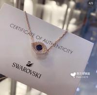 swarovski halskette 18k großhandel-Lady Zubehör Die neue Glamour Silber Mode Druzy Schmuck Göttin Swarovski Elemente für Halskette Favorit