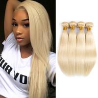 Wholesale 613 hair color black women resale online - Blonde Brazilian Straight Hair Weave Bundles or Bundles Inch Human Hair Extensions For Black Women