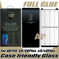 Wholesale galaxy s10 case with screen protector for sale – best Full Glue Case Friendly Tempered Glass Screen Protector For Samsung Galaxy S10 S9 S8 Note Plus With Retail Package