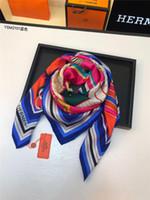 ingrosso sciarpe sottili del hijab-Sciarpe di seta di marca firmate da donna moda foulard lungo bandana scialli sottili di alta qualità e avvolge sciarpe da donna hijab