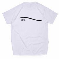 diseño de impresión de la camiseta para hombre al por mayor-Los adolescentes de onda de rayas de impresión para hombre del diseño para mujer de las camisetas de Calle París Los amantes del verano del cuello de equipo camisetas Marca Tops
