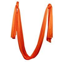 ingrosso swing inversione yoga-MagiDeal 5 X 2.8M Anti-gravità Yoga Swing Hammock Aerial Inversion Strap Arancione Inversion Tool Anti-Gravity Yoga Swing