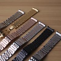 zubehör armbänder großhandel-Uhrenarmbänder Mode Uhrenarmband Armbänder 18mm 1mm9 20mm 21mm passen Marke Luxus Stunden Männer Frauen Accessoires Förderung gekrümmten Enden