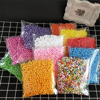 Wholesale 2000pcs mm Polystyrene Styrofoam Plastic Foam Mini Beads Ball DIY Assorted Colors Decorate Christmas Decoration New Year
