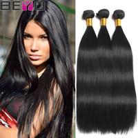 ingrosso acquistare i capelli indiani-Bundle di capelli lisci Beyo Raw Virgin estensioni dei capelli lisci capelli umani 4 Bundle 30 pollici Remy può acquistare 3 pezzi Beyo