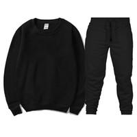 круглый воротник оптовых-New  Fashion Men Sportswear Print Men Hoodies+Hip Hop Casual Men's tracksuit Sweatshirts Clothing Round collar suit