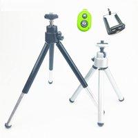clip kameraständer großhandel-Mini stativ für kamera stativ für iphone 6s 7 xiaomi mit telefonclip stativ halterung für nikon gopro 5 4 session yi kamera
