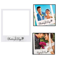 Wholesale couple kits for sale - Group buy Couple Photo Frame White Card Wedding Day Photography Props Creative Photos Prop For Party Favors Supplies qr E1