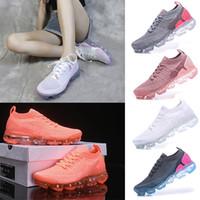 vapor melhor venda por atacado-Nike Air VaporMax 2018 Flyknit 2.0 SER TRUE Designers Homens Mulher Sapatos de Choque Para Real Qualidade Moda Mens Running Shoes Tamanho 36-45