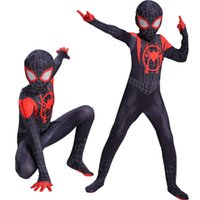 conjunto de traje de cosplay para adultos al por mayor-Into the Spider-Verse Spider Man Cosplay Clothing Set Disfraces de Halloween Ropa de rendimiento Medias para niños y adultos