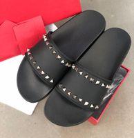 Wholesale spike slip for sale - Group buy 2020 New Arrival Hot Mens Designer Sandals Men Rockstud Spikes Beach Slide Slippers slip on causal Designer Shoes Flip Flop