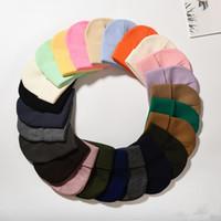 hop şekerleme toptan satış-Moda Kadın Örme Şapka Şeker Renk Örme Kap Yumuşak Erkekler Hip Hop Beanie Şapka Açık Sıcak Kayak Kap TTA1689