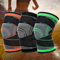 Wholesale brace bandage for sale - Group buy 3 Colors Unisex Fitness Cycling Bandage Knee Support Braces Elastic Kneepad Leg Protective Pad Knee Protector Brace Compression Sleeve M421F