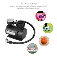 Wholesale bicycle pump pressure for sale - Group buy 300PSI Car Inflator DC12V with Pressure Gauge Auto Air Compressor Pump for Car Bicycle Ball Rubber Dinghy