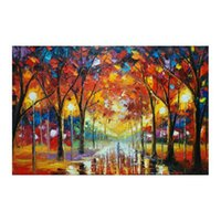 "paisagem de pintura de mão venda por atacado-24""*48""Hand-painted canvas oil painting sitting room scenery and romantic european-style hang a picture to the walking on the street"