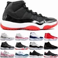 Wholesale red snakeskin 11s resale online - 11 Pin Navy Snakeskin s Concord Basketball Shoes Bred Men Women Space Jam Gym Red Mens Trainer Sport Sneakers Cheap Sale