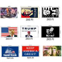 ingrosso arredamento per giardino-10 colori Donald Trump Tank Flag per President 2020 Bumper Make America Great Again Cortile USA Flag Elezioni Banner giardino decor A5702
